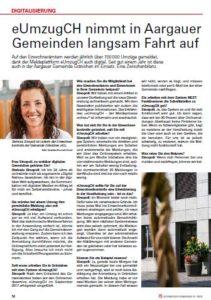 """Bild des Artikels der Zeitschrift """"Schweizer Gemeinde"""" (klickbar)"""